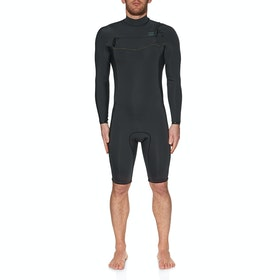 Billabong 2mm Revolution Chest Zip Long Sleeve Shorty Wetsuit - Black Camo