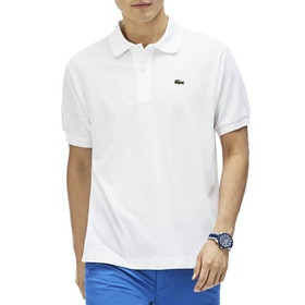 Lacoste L1212 Classic Premium Herren Polo-Shirt - White