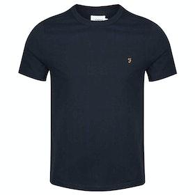 Farah Dennis Solid Short Sleeve T-Shirt - True Navy