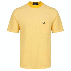 Fred Perry Re Issues Two Tone Pique Kurzarm-T-Shirt - Citrus Yellow
