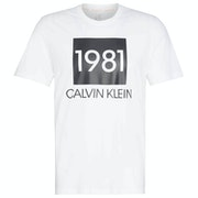 Calvin Klein Short Sleeved Crew Neck Loungewear Tops