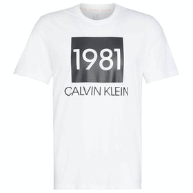 Abbigliamento da Casa Calvin Klein Short Sleeved Crew Neck - White