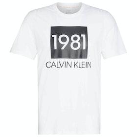 Calvin Klein Short Sleeved Crew Neck Loungewear Tops - White
