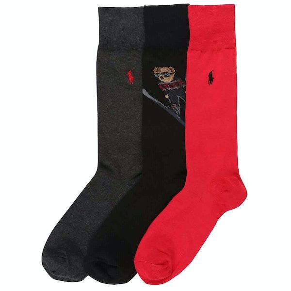 Ralph Lauren 3 Pack Crew Men's Socks
