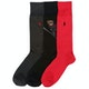 Polo Black Dark Charcoal Pion Red