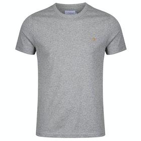 Farah Dennis Short Sleeve T-Shirt - Rain Heather