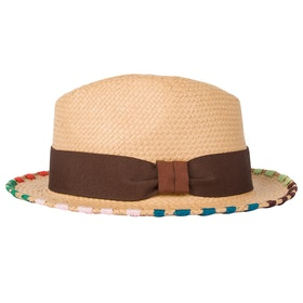 Paul Smith Embroidered Brim Trilby Hat - Tan