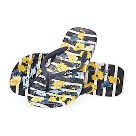 Joules Flip Flops Women's Sandals - Navy Floral Stripe