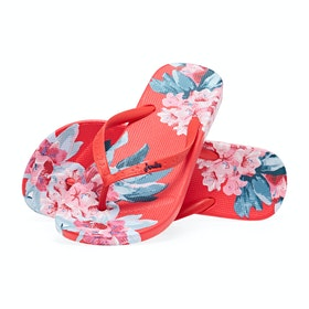 Joules Flip Flops Women's Sandals - Red Floral