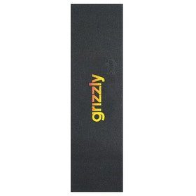 Grizzly Lowercase Fadeaway Skateboard Griptape - Yellow