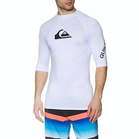 Quiksilver All Time Short Sleeve Rash Vest - White