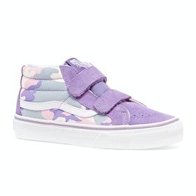 Chaussures Enfant Vans Sk8 Mid Reissue V - Pastel Camo Fairy Wren Marshmallow