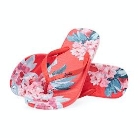 Joules Flip Flops Dame Sandaler - Red Floral