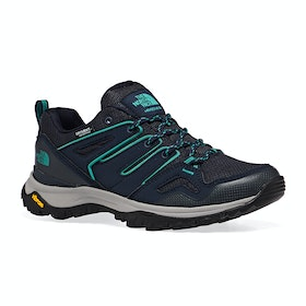 North Face Hedgehog Fastpack II Wp Womens Walking Shoes - Urban Navy Jaiden Green