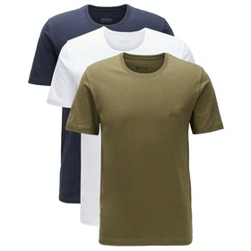 BOSS 3 Pack Cotton Short Sleeve T-Shirt - Mixed