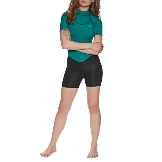 Billabong 2mm Synergy Back Zip Shorty Womens Wetsuit
