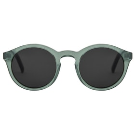 Monokel Barstow Sunglasses - Clear Green Solid Grey Lens