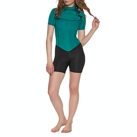 Billabong 2mm Synergy Chest Zip Shorty Womens Wetsuit - Mermaid