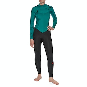 Billabong 3/2mm Furnace Synergy Chest Zip Womens Wetsuit - Mermaid