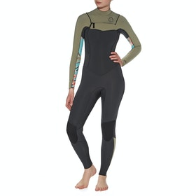 Billabong 4/3mm Salty Dayz Chest Zip Womens Wetsuit - Aloe