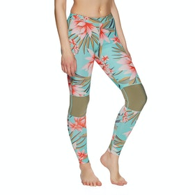 Billabong Skinny Sea Legs 1mm Womens Wetsuit Pants - Waterfall