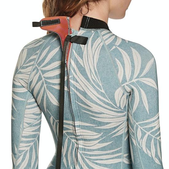 Billabong 2mm Spring Fever Back Zip Long Sleeve Shorty Womens Wetsuit