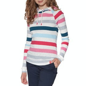 Joules Marlston Women's Pullover Hoody - Cream Pink Stripe