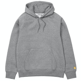 Bluza z kapturem Carhartt Chase - Grey Heather / Gold