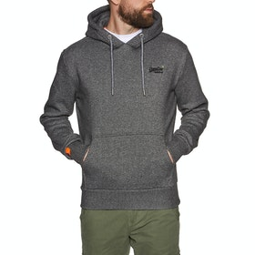 Superdry Orange Label Classic Pullover Hoody - Mid Grey Texture