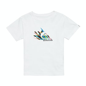 Quiksilver Snow Fires Boys Short Sleeve T-Shirt - White