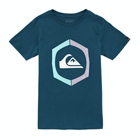 Quiksilver Sure Things Youth Boys Short Sleeve T-Shirt - Majolica Blue