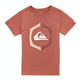 Quiksilver Sure Things Youth Boys Short Sleeve T-Shirt - Redwood