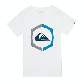 Quiksilver Sure Things Youth Boys Short Sleeve T-Shirt - White
