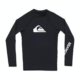 Quiksilver All Time Long Sleeve Boys Rash Vest - Black