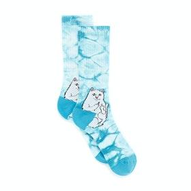 Rip N Dip Lord Nermal Sports Socks - Baby Blue Tie Dye