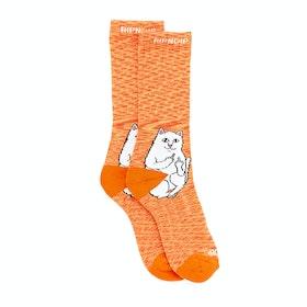 Rip N Dip Lord Nermal Sports Socks - Orange Speckle