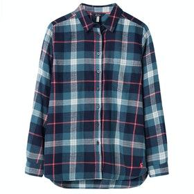 Joules Lorena Ladies Shirt - Navy Teal Check