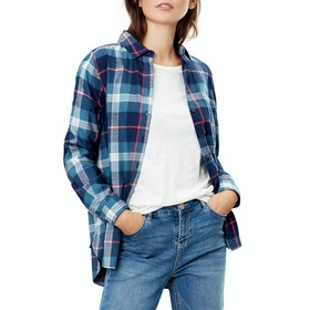 Joules Lorena Women's Shirt - Navy Teal Check