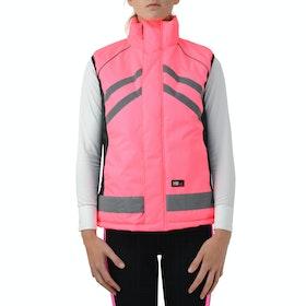 Hy Viz Padded Reflektierende Weste - Pink