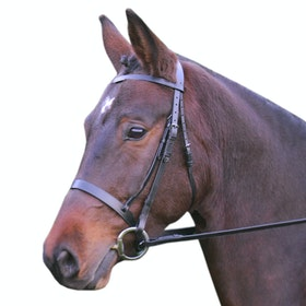 Hy Hunter with Rubber Grip Reins Snaffle Bridle - Black