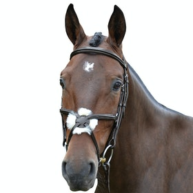 Hy Mexican with Rubber Grip Reins Grackle Bridle - Brown