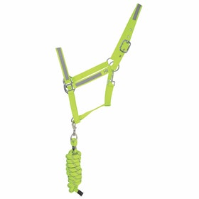 Hy Viz Lead Rope & Reflective Head Collar - Yellow