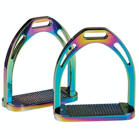Korsteel Aluminium Stirrup Irons - Rainbow