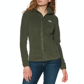 North Face 100 Glacier Full Zip Womens Fleece - New Taupe Green