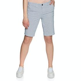 Superdry City Chino Womens Shorts - Navy Stripe