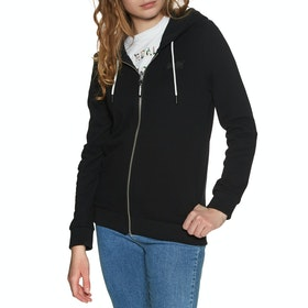 Sweat à Capuche avec Fermeture Éclair Femme Superdry Orange Label Elite - Black