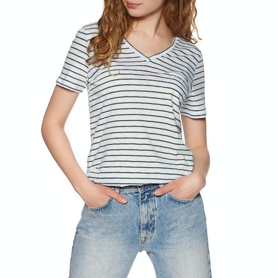 Superdry Orange Lable Essential Vee Womens Short Sleeve T-Shirt