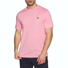 Paul Smith Reg Fit Zebra Short Sleeve T-Shirt - Pink