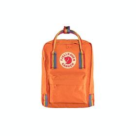 Fjallraven Kånken Rainbow Mini Backpack - Burnt Orange Rainbow Pattern