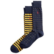Polo Ralph Lauren Dot & Stripe 2 Pack Socks